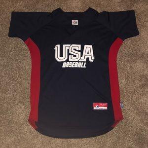 Official Majestic USA Baseball Jersey (Sm-L)